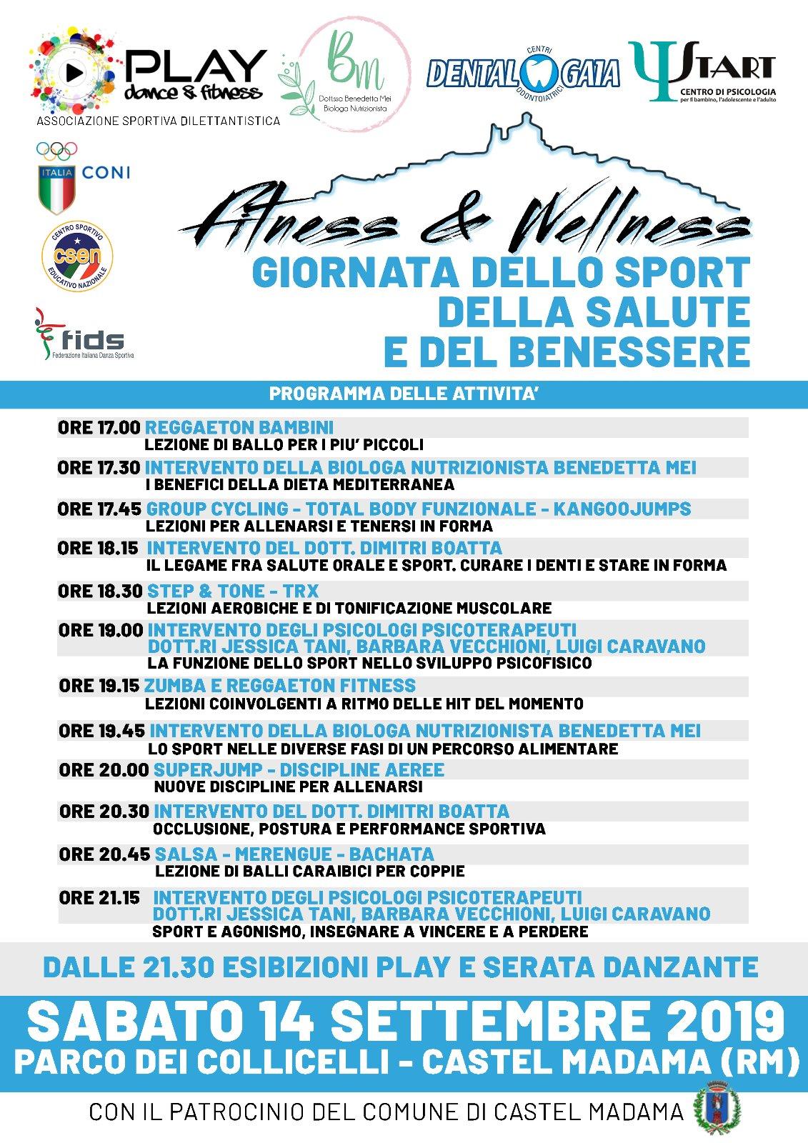 Fitness Wellness Giornata Dello Sport Della Salute E Del Benessere Centro Psicologia Start
