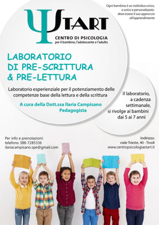 Laboratorio di pre-scrittura e pre-lettura